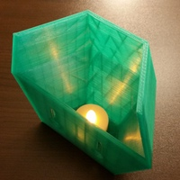 Small Wall sconce for LED tea light 3D Printing 118007