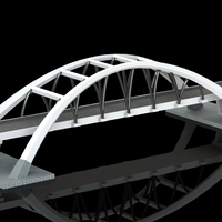 Small THE WHITE BRIDGE 3D Printing 118042