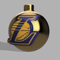 Small Lakers X-mas toy 3D Printing 118054