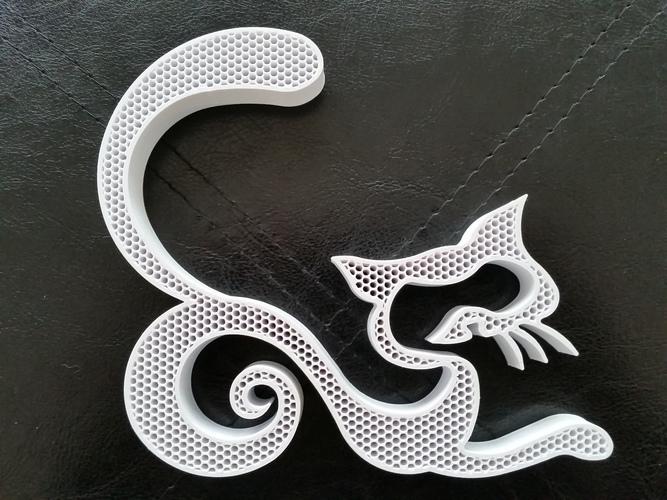 Fancy Cat 3D Print 118072