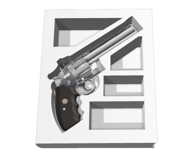 The Secret Book Box & Gun (Colt Python .357 Magnum) 3D Print 118099