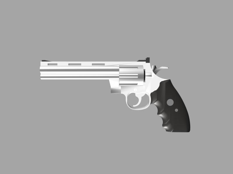 The Secret Book Box & Gun (Colt Python  357 Magnum) @ Pinshape