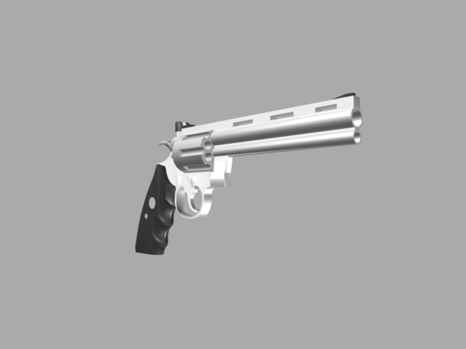 The Secret Book Box & Gun (Colt Python .357 Magnum) 3D Print 118126