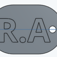 Small Dog Tag  3D Printing 118141