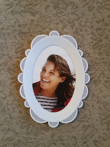 Oval Picture Frame 3D Print 118148
