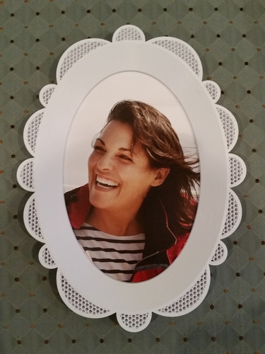 Oval Picture Frame 3D Print 118151
