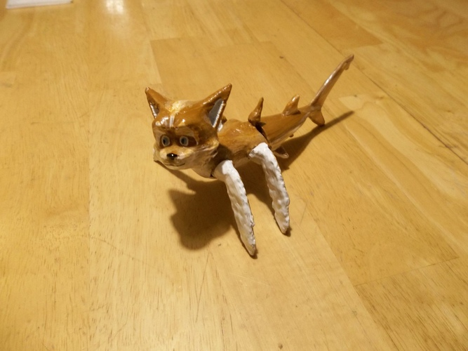 mermaid dog (Aquahound?) articulated 3D Print 118189