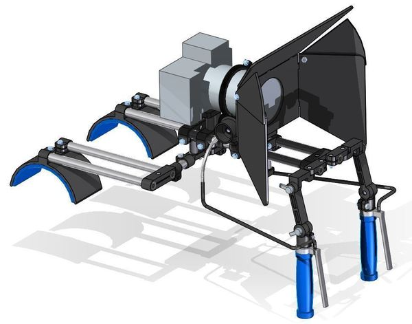 Medium Very variable camera rig (double shouldermount, followfocus, bre 3D Printing 118193