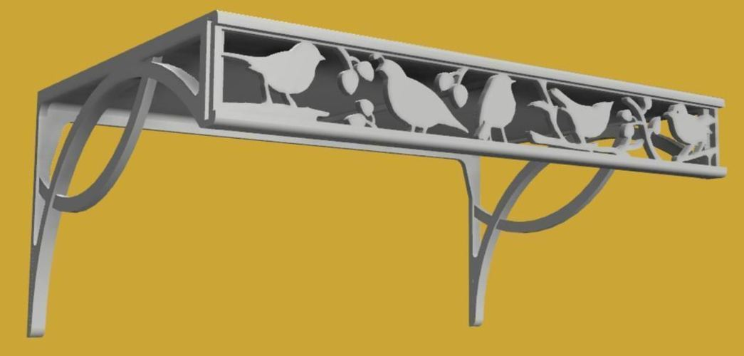 Decorative Shelf 3D Print 118235