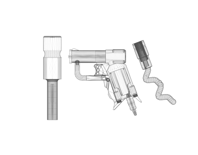 THE ​SPACE AIR HAMMER​ 2.0 - *FREE DOWNLOAD* 3D Print 118306