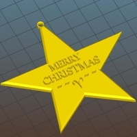 Small Christmas Star Hanger 3D Printing 118328