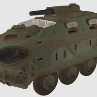 Small fallout 4 military vehicle 3D Printing 118338