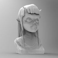 Small Demon Girl Statue 3D Printing 118515