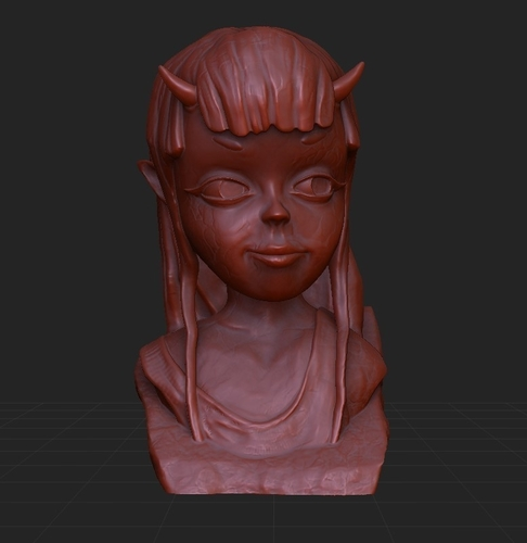 Demon Girl Statue 3D Print 118518
