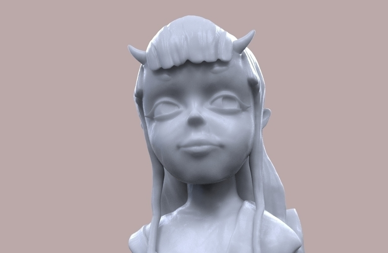 Demon Girl Statue 3D Print 118523