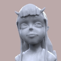 Small Demon Girl Statue 3D Printing 118523
