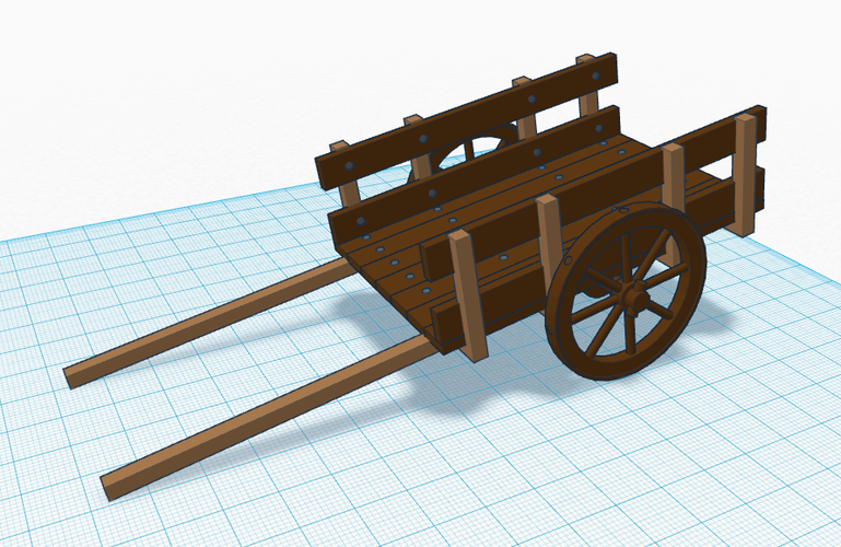 Simple Wooden Cart 3D Print 118528