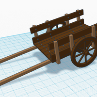 Small Simple Wooden Cart 3D Printing 118528