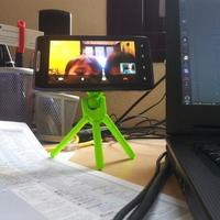 Small A useful 3D-printed tripod (1/4-20 screw reqd) - UPDATED (July 3 3D Printing 118600