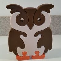Small Owl Puzzle 3D Printing 118621