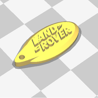 Small land rover 3d logo 3D Printing 118657