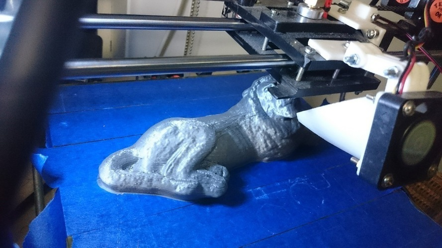 Carved stone lion statue 3D Print 118769