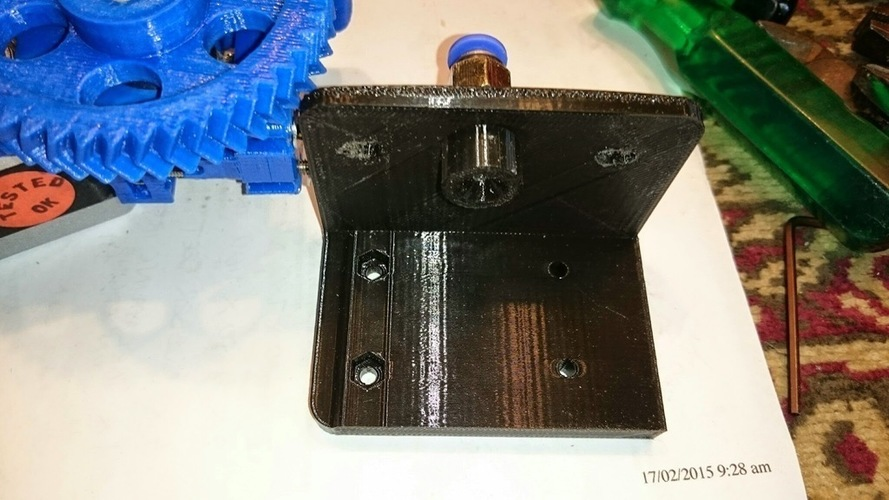 Jak's modification of a Bowden bracket for a Gregs or Wades extr 3D Print 118803
