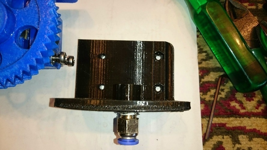 Jak's modification of a Bowden bracket for a Gregs or Wades extr 3D Print 118806