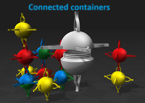 Medium Smart space container & more... 3D Printing 119062
