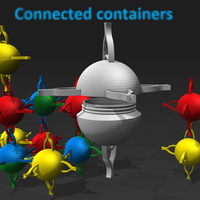 Small Smart space container & more... 3D Printing 119062
