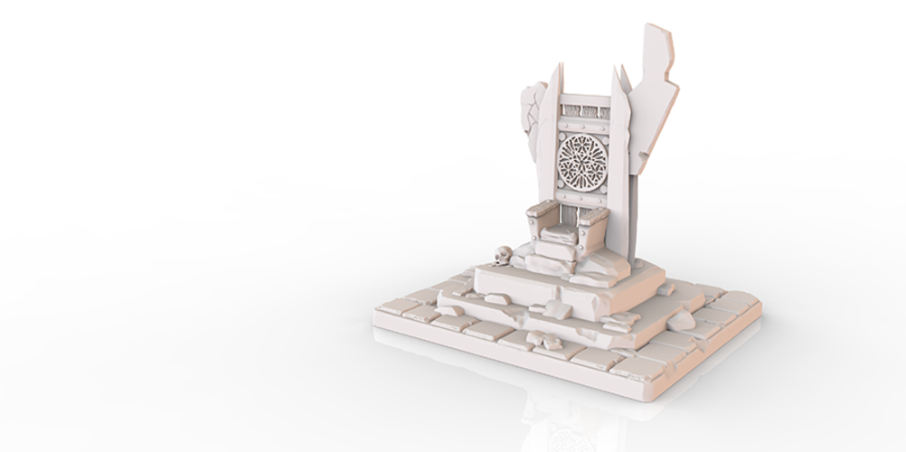 HG3D Throne of Forlorn - 28mm 3D Print 119125