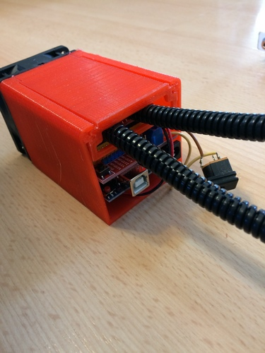 Arduino UNO actively vented slide top case. 3D Print 119244