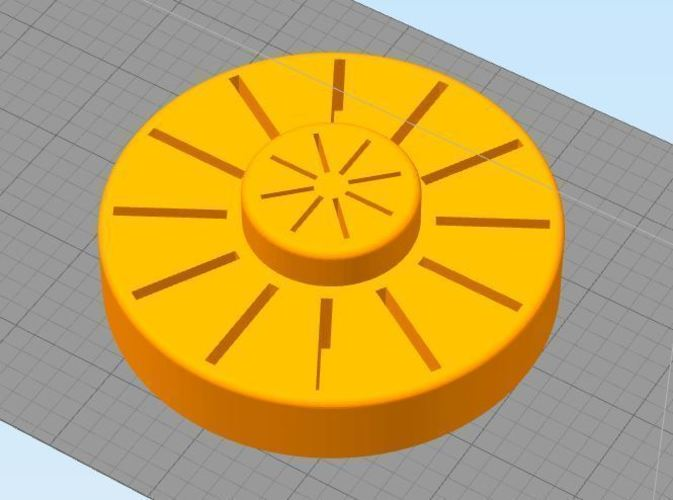 SD Card Holder - Round 3D Print 119245