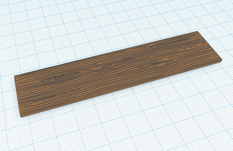 Wooden Plank (Grained) 3D Print 119248