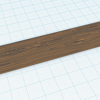 Small Wooden Plank (Grained) 3D Printing 119248