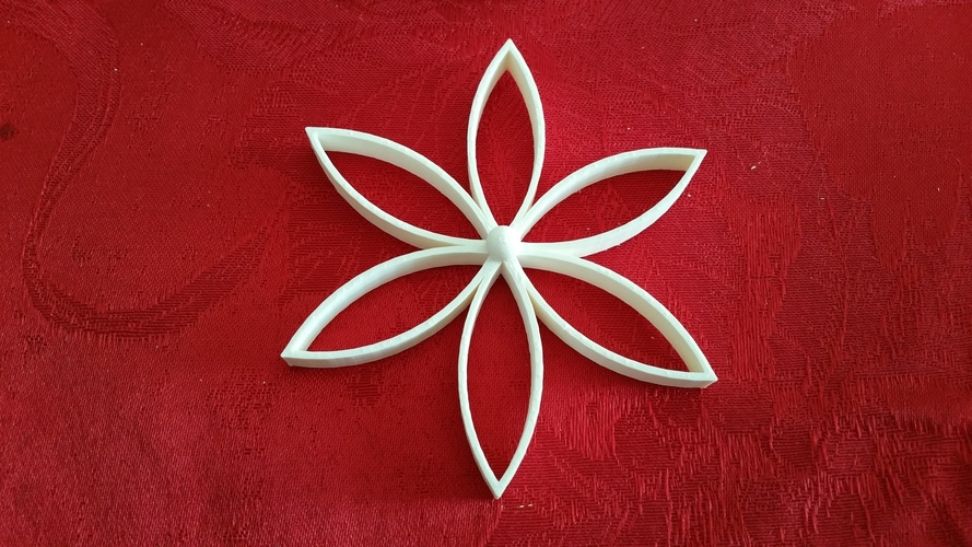 Christmas Flower with Center Ball 3D Print 119366