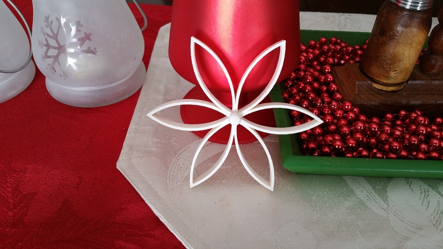 Christmas Flower with Center Ball 3D Print 119367