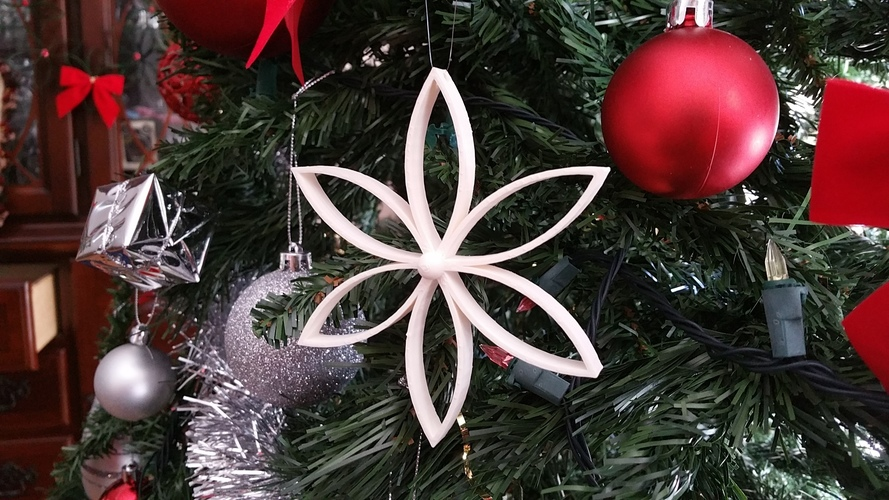 Christmas Flower with Center Ball 3D Print 119368
