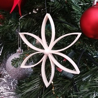 Small Christmas Flower with Center Ball 3D Printing 119368