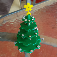 Small Christmas Tree Earring Holder 3D Printing 119386