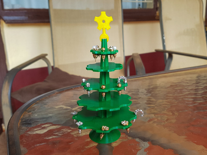 Christmas Tree Earring Holder 3D Print 119387