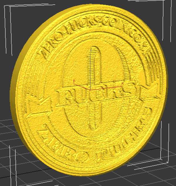 Medium Zero F*cks Given Coin 3D Printing 119404