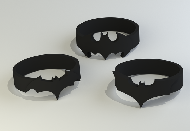 Batman Rings (sizes US 6 - 12)  3D Print 119414