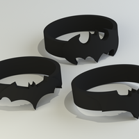 Small Batman Rings (sizes US 6 - 12)  3D Printing 119420