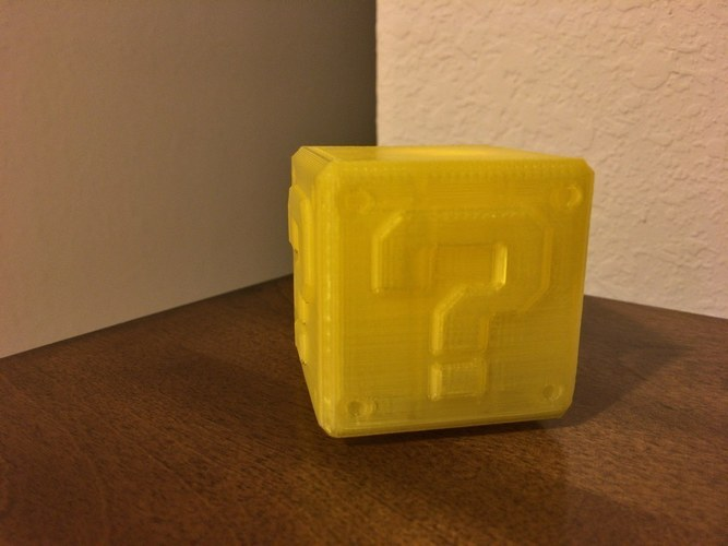 Mario Question Block with LED tea light candle cut out 3D Print 119525