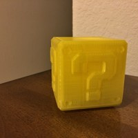 Small Mario Question Block with LED tea light candle cut out 3D Printing 119525