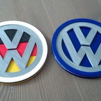 Small VW Badge Coasters 3D Printing 119701