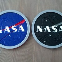 Small NASA Logo Drink Coaster 3D Printing 119703