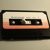 Small Cassette Tape Light Switch Cover 3D Printing 119711