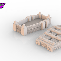 Small HG3D Dungeon Coffin - 28mm 3D Printing 119738